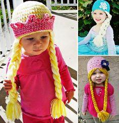 Rapunzel Elsa Disney Princess FREE Crochet Hat Braids