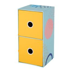 IKEA - LANKMOJ, Mini chest with 2 drawers, The small decorative mini chest is just as practical to have on your desk or chest of drawers as inside your storage.You can choose how you want it to stand – it's easy to change the positioning of the drawers. Storage Boxes With Lids, Desk Storage, Small Storage, Storage Containers, Storage Chest, Drawer Lights, Ikea Desk, Best Ikea, Packaging