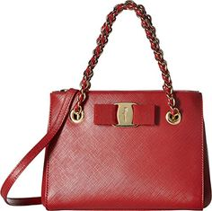 08700fe8fce Salvatore Ferragamo Womens Melike 21G191 Rosso Handbag -- Want to know  more