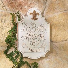 Personalized La Belle Maison Plaque $59.00