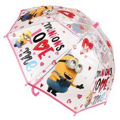 Umbrela fete Love Minions roz