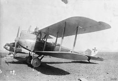 LVG C.V two-seat reconnaissance biplane. Serial number 14600. Albatros D.V one-seat fighter biplane is in the background