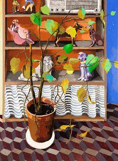 Erik Mattijssen - Menagerie, 2011  pencil, gouache, pastel on paper   111 x 81 cm