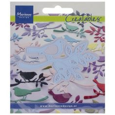 Bird With Small Branch - Marianne Design Creatables Dies Bird On Branch, People Shopping, Cherry On Top, Marianne Design, Creative People, Cute Crafts, Hobbies And Crafts, Stencils, Kids Rugs