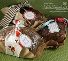 Tasty gift w/ coffee filter wrappers!