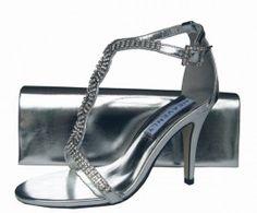 Bernice Silver Evening Sandals | Sole Divas