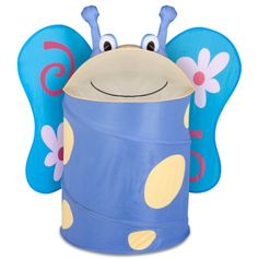 Large Kids Pop-Up Hamper - Butterfly - Kids Room Decor - $11.50