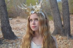 A personal favorite from my Etsy shop https://www.etsy.com/listing/485628573/deer-antler-christmas-headband-reindeer
