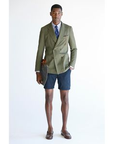 The olive green double breasted blazer