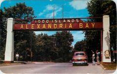 alexandria bay ny | 1000 Alexandria Bay New York Welcome Sign Postcard | eBay