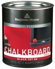 Wodorozcieńczalna lateksowa farba Studio Finishes Chalkboard Paint marki Benjamin Moore, opak. 0.95 l.