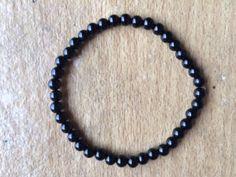 Black Tourmaline Bracelet x 2 Custom  One only by Crystalcures4u, $36.00