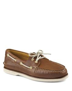 Sperry Gold A/O 2-Eye Perforated Boat Shoes