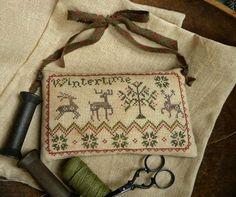 """""""Wintertime"""" hanging pinkeep ~ Threadwork Primitives (Nan)"""