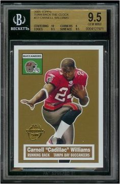 2005 Topps Carnell Williams Tampa Bay Buccaneers Football Rookie Card #22 - BGS GRADED 9.5 GEM MINT !! by Topps. $19.95. Gorgeous, Gem Mint condition rookie card of this young superstar!!