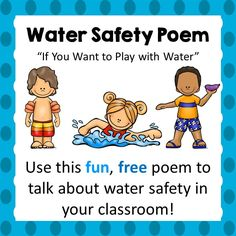 When I'm not teaching, I am a certified lifeguard and lifeguard instructor. I grew up in and around the water; and I have been lifeguarding for over 8 years and coaching a swim team for 4 years. My experiences with water safety have prompted me to create a line of products geared at helping kids learn to be safe around the water! This FREE product is a fun little poem that you can use to introduce or talk about water safety. It gives a few quick tips on how to stay safe around the water.