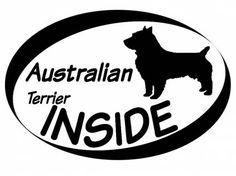 Hund Inside Auto AufkleberInside Aufkleber: Australian Terrier