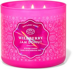 Bath Candles, 3 Wick Candles, Scented Candles, Candle Jars, Best Home Fragrance, Home Fragrances, Fragrance Oil, Jam Donut, Natural Essential Oils