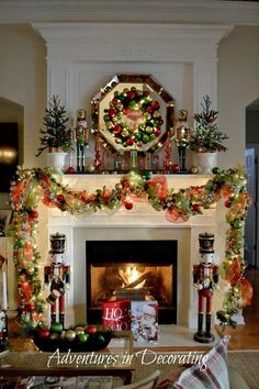 52 stunning christmas mantel decorating ideas - Fireplace Mantel Christmas Decor