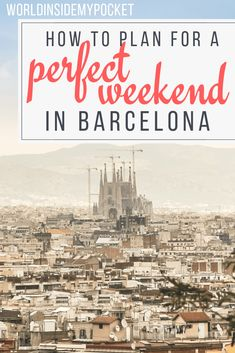 Here is the perfect Barcelona weekend itinerary. A 3 day itinerary for Barcelona that includes where to stay, what to see and what to do. Backpacking Europe, Travel Europe Cheap, Europe Travel Guide, Europe Destinations, Spain Travel, European Travel, Travel Guides, Traveling Europe, Portugal Travel