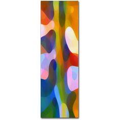 Trademark Fine Art Dappled Light Panoramic Vertical 2 inch Canvas Art by Amy Vangsgard, Size: 6 x 19, Multicolor