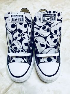 Nightmare Before Christmas Shoes - Custom Converse by SoleSurvivorShop on Etsy https://www.etsy.com/listing/575767391/nightmare-before-christmas-shoes-custom
