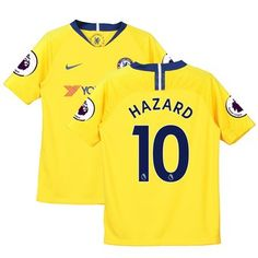 d61e9ddf5 Eden Hazard Chelsea Nike Youth 2018/19 Away Stadium Replica Player Jersey –  Yellow