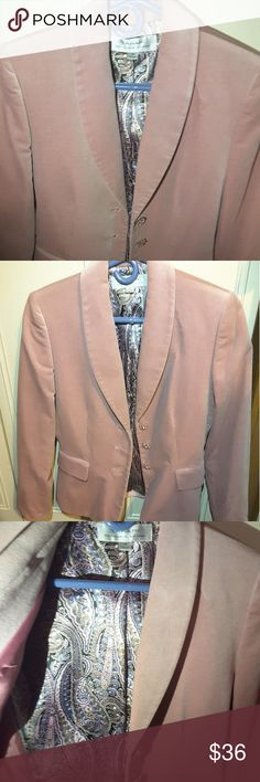 Suede Velvet Blush Pink Tahari Suit In very good condition, only worn once, beautiful with dress of any color, very comfortable & cozy. Used for a fashion statement as a cape Tahari Jackets & Coats Blazers