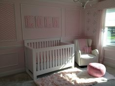 Pink Chevron nursery