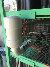 """I'm in the process of making some feeders for my coturnix pens out of 3"""" PVC. Planning on just..."""