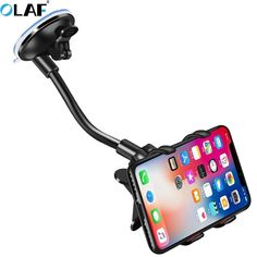 Car Phone Holder 360 Degree Rotate Mobile Phone Stand Car Mount For iphone 11 Pro XS X Windshield Long Arm Clip Phone Car Holder Smartphone Car Holder, Phone Charger Holder, Iphone Holder, Phone Stand For Car, Iphone Stand, Iphone Phone, Iphone S6 Plus, Support Telephone, Mobile Holder
