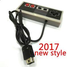2017 새로운 컨트롤러 1.5 메터 교체 NES 컨트롤러 게임 컨트롤러 게임 패드 조이스틱 NES 클래식 판 미니 NES