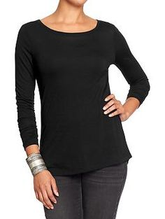 Womens Sweater-Knit Long-Sleeve Tops