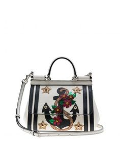 DOLCE & GABBANA Dolce & Gabbana Mini Sicily Tote. #dolcegabbana #bags #shoulder bags #hand bags #leather #tote #