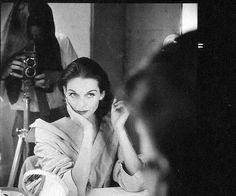 Anne St. Marie, photo by Henry Clarke (in mirror), Paris, 1955