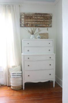 rustoleum white linen chalk paint dresser makeover