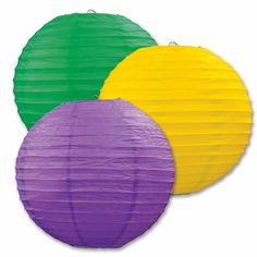 A great way to decorate this mardi gras is with the purple, green and yellow mardi gras paper lanterns.