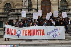 """Rueda de prensa de BilboFeminista Eraikitzen 19/05/2015 en Bilbao A pesar del bagaje de más de 40 años de lucha del Movimiento Feminista en Bilbao, en nuestra ciudad continuamos sin """"Casa de las Mujeres"""", sin """"Escuela de Feminismos"""" +fotos:  http://ecuadoretxea.blogspot.com.es/2015/05/rueda-de-prensa-de-presentacion-de-las.html"""
