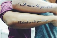 15 GORGEOUS Quote Tattoos You And Your BFF Will Love