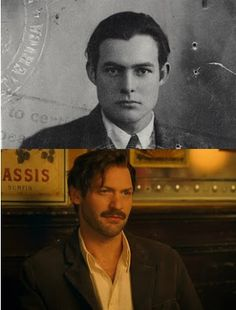 Midnight in Paris by Woody Allen Ernest Hemingway (by Corey Stoll) was an American author and journalist.