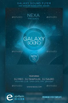 Galaxy Sound Flyer Template PSD | Buy and Download: http://graphicriver.net/item/galaxy-sound-flyer/9175086?WT.ac=category_thumb&WT.z_author=ejvillarin&ref=ksioks