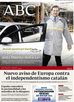 Los Titulares y Portadas de Noticias Destacadas Españolas del 5 de Junio de 2013 del Diario ABC ¿Que le parecio esta Portada de este Diario Español?