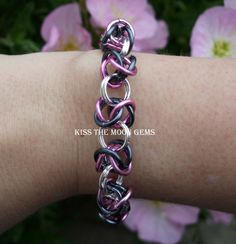 Love the colors..love the chainmaille