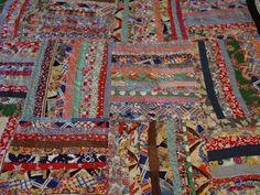 Fabulous Antique Quilt Primitive Folk Art 100's by auntnonniesnest