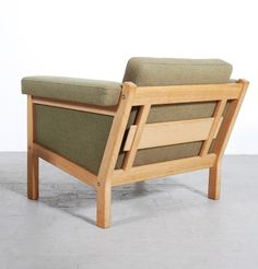 Superb Oak Lounge Chair For Getama, Pictures Gallery