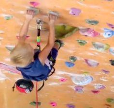 4yr old rock wall climber  http://player.vimeo.com/video/29066466?autoplay=1