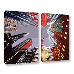 ArtWall Niel Hemsley's 'Look Up' 2-piece Gallery Wrapped Set