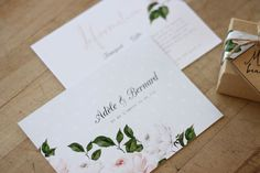 Wedding Invitation Design by Just My Type - French Jardin