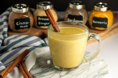 Warm Turmeric Cinnamon Milk. How to make Golden Milk, a nutritious, anti-inflammatory drink that may help you sleep! |www.flavourandsavour.com