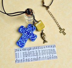 Just As I Am Christian Jewelry Hymn Necklace Altar by GospelHymns
